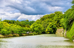 Fossé au château de Himeji au Japon Photo stock