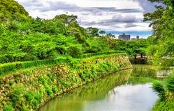 Fossé au château de Himeji au Japon Images libres de droits