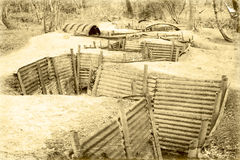 Fossé Belgique Flandre de Première Guerre Mondiale photos libres de droits
