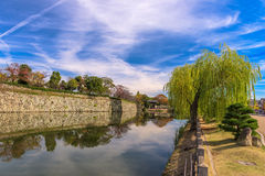 Fossé de château de Himeji Photo libre de droits