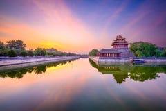 Fossé de Cité interdite dans Pékin Photographie stock