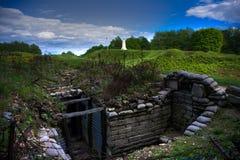 Fossés sur la ligne de Verdun Images stock