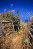 Fossés turcs d'infanterie, Gallipoli Photographie stock libre de droits