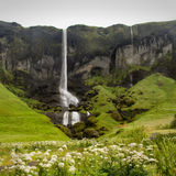 Foss-a-Sidu waterfall. The Foss-a-Sidu waterfall in Iceland stock images