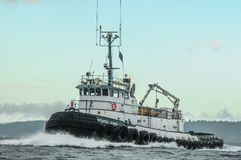 Stacey Foss Underway on Puget Sound Royalty Free Stock Photography