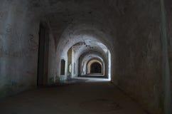 Fossa del WWI, montagna Enna - Veneto, Italia fotografia stock libera da diritti
