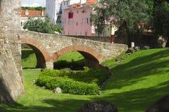 Fossa della fortezza di Lisbona Fotografia Stock