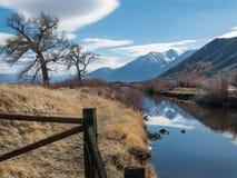 Fossa di irrigazione in Carson River Valley immagine stock