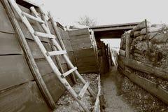 Fossa vicino a Verdun nell'est della Francia Fotografie Stock
