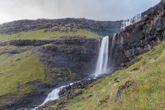 Fossa Waterfall, Streymoy Island, Faroe Islands Royalty Free Stock Images