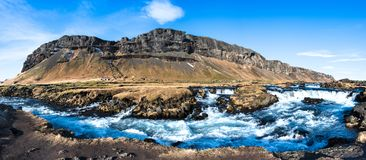 Fossalar River Rapids in Rural Iceland Royalty Free Stock Photography