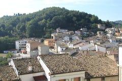 Fossalto Campobasso Molise Włochy górska wioska obraz stock