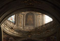 Fossano Cathedral - Cuneo Italy. Fossano Cathedral Dome - Cuneo Italy Stock Photo