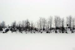 Fossano im Winter Lizenzfreie Stockbilder