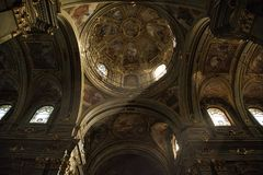 Fossano-Kathedrale KN-Italien Lizenzfreies Stockfoto