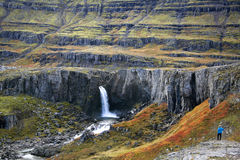 Fossarfell Waterfall - Iceland Royalty Free Stock Photography