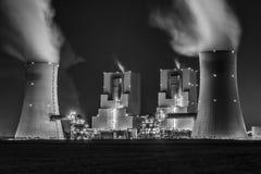 Fossiele brandstofkrachtcentrale Royalty-vrije Stock Afbeelding