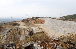 Fossil bed of Pedreira do Galinha, Portugal stock photography