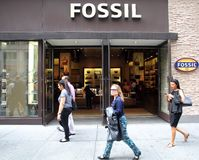 FOSSIL CLOTHING AND ACCESSORIES Stock Image