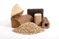 Fossil combustibles, coal, fire wood, pellets, briquettes, Stock Images
