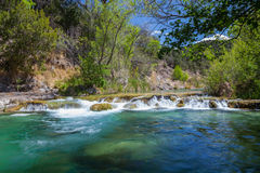 Fossil Creek Arizona Landscape. A  scenic waterfall along fossil creek in northern arizona Royalty Free Stock Images