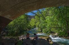 Fossil Creek Bridge Royalty Free Stock Photography