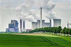 Fossil energy power plant Stock Photos