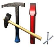 Fossil excavation tool. This is Fossil excavation tool set royalty free illustration