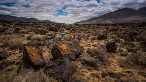 Fossil Falls Scenic Area, Coso Range, California Stock Photos
