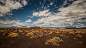 Fossil Falls Scenic Area, Coso Range, California Stock Photo