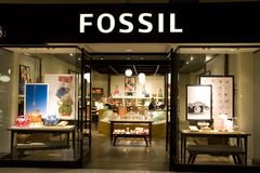 Fossil fashion store Stock Photos