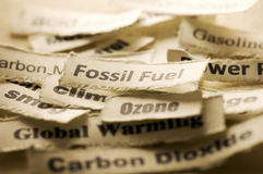 Fossil Fuel. Picture of a global warming concept Royalty Free Stock Image