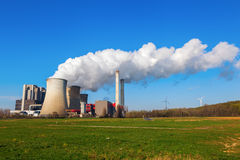 Fossil-fuel power station Stock Photography