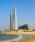 A fossil fueled power station. On sea beach Stock Image