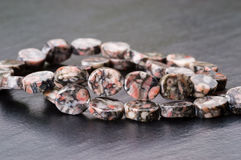 Fossil jasper beads Royalty Free Stock Photos