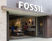 Fossil Store Exterior and Sign Stock Images