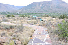 Fossil trail in the Karoo National Park Stock Image