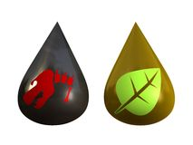 Fossil und alternativer Brennstoff Lizenzfreies Stockfoto