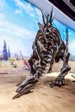Fossil- utställning i det kungliga Tyrrell museet royaltyfri foto