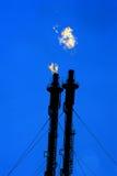 Fossila bränslenraffinaderikomplex Arkivbilder