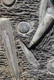 Fossilien auf Felsen lizenzfreie stockbilder