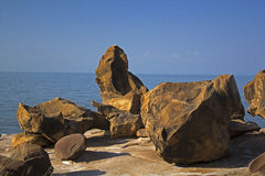 """Fossils Park. India's ignored Treasures (Kutch Fossil Park ) at Kutch in Gujarat State."""" About 70 kms from Bhuj and 20 kms from Nakhtarana. marvelous Stock Image"""