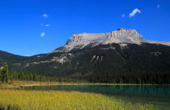 Fossils Range at Emerald Lake, Yoho National Park, Canada Royalty Free Stock Images