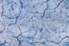 Fossils in Stone as Abstract Background. Fossils in unpolished blue stone as abstract background Royalty Free Stock Photos