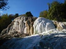 Fosso Bianco около Bagni di Сан Филиппо Стоковое Изображение RF
