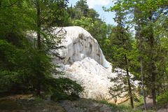 Fosso Bianco Hot Springs i Bagni San Filippo Royaltyfria Foton
