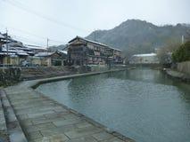 Fosso de Hachiman no inverno Fotografia de Stock Royalty Free
