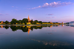 Fosso do palácio de Mandalay imagem de stock royalty free