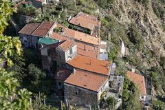 Fossola Cinque Terre National park. Locality: La Spezia (SP) Royalty Free Stock Photography