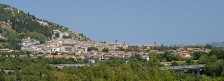Fossombrone Marches, italy Royalty Free Stock Photography